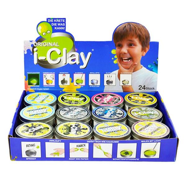 i-clay Superknete Riesen-Mix Display