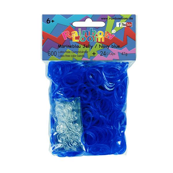 Rainbow Loom® Gummibänder Marineblau Jelly