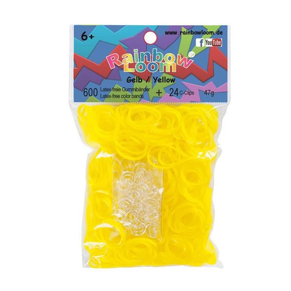 Rainbow Loom® Gummibänder Gelb Jelly