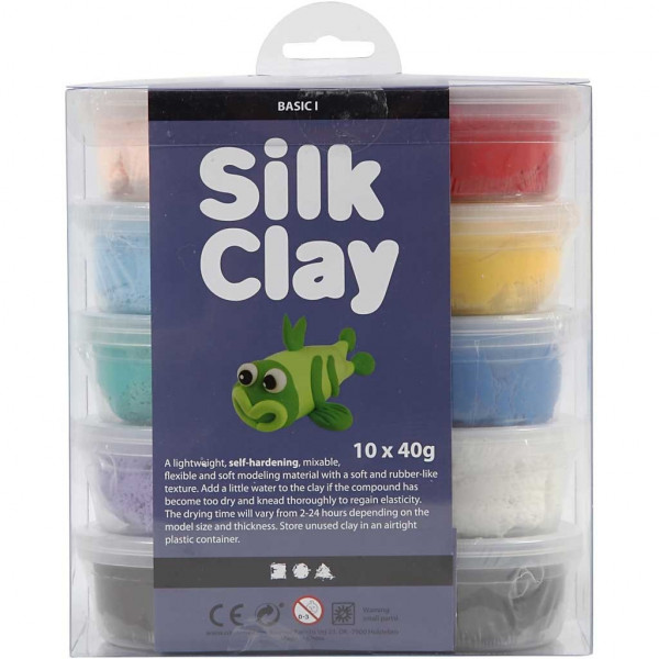 Seidenknete 10er Basic-Set 1, Silk Clay®