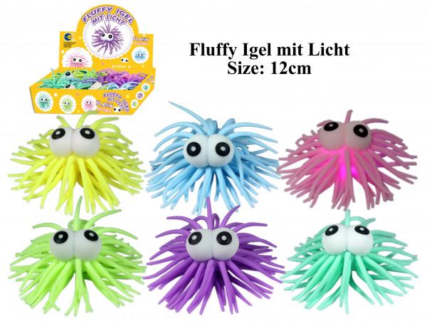 Fluffy Igel mit Licht
