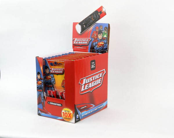 AAA Batterien mit Justice League Lizenz