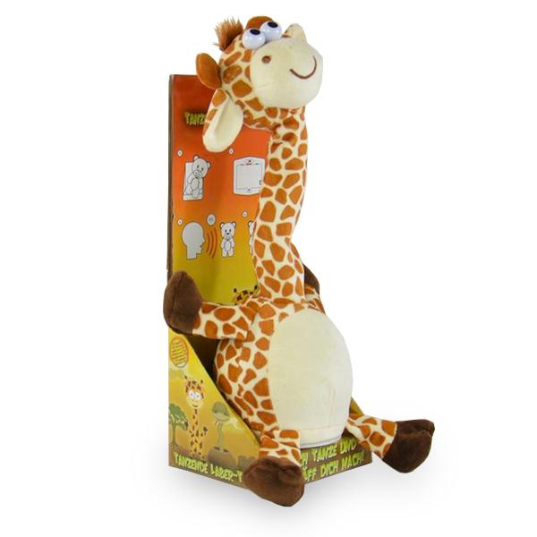 Laber-Giraffe, tanzend