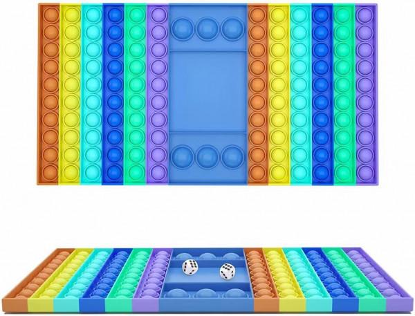 Fidget game mit 2 Zahlen-Würfeln und 1 Farbwürfel