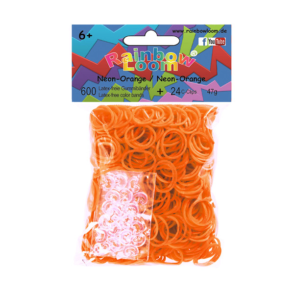 Rainbow Loom® Gummibänder Neon-Orange