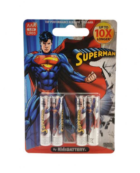 AAA Batterien mit Superman Lizenz