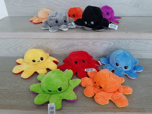 Reversibler Plüsch Oktopus - Mood