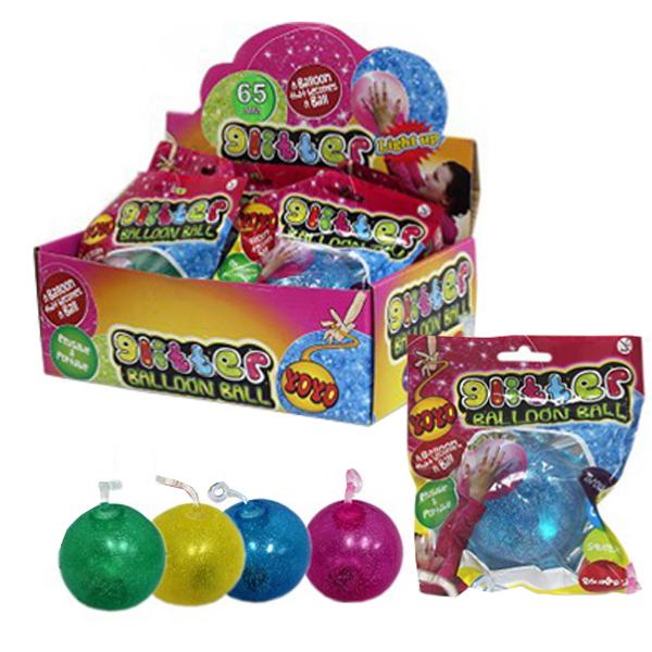 Fun Ballon Glitzer mit Licht