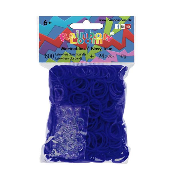 Rainbow Loom® Gummibänder Marineblau