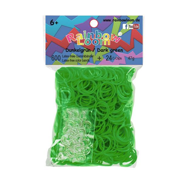 Rainbow Loom® Gummibänder Dunkelgrün