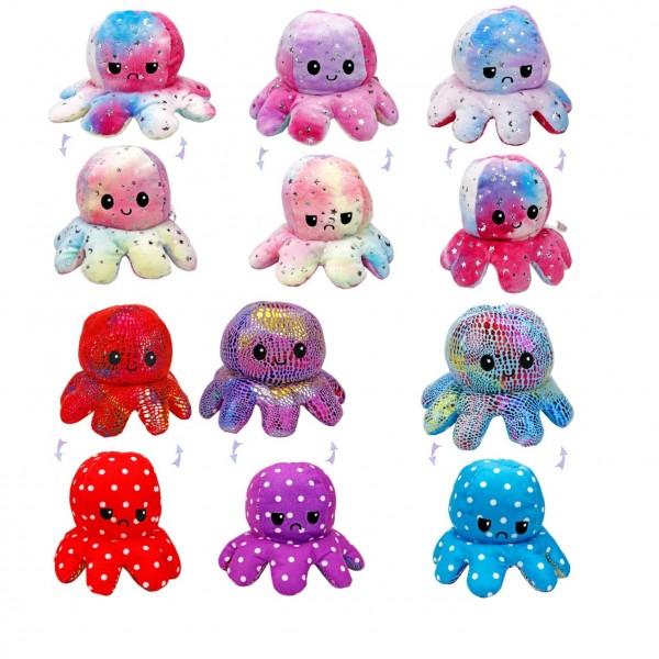 Octopus - Glitzer - Wendeplüsch